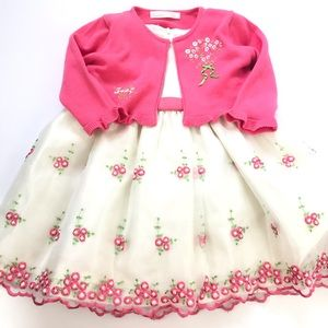 American Princess 23M Baby Girl Dress Excellent